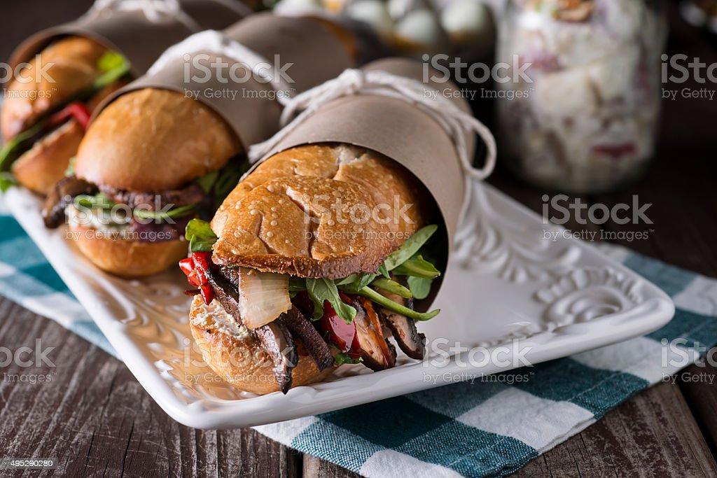 Gourmet Sub Sandwich stock photo