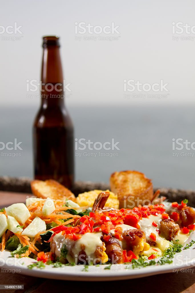 Gourmet Tropical Dinner royalty-free stock photo