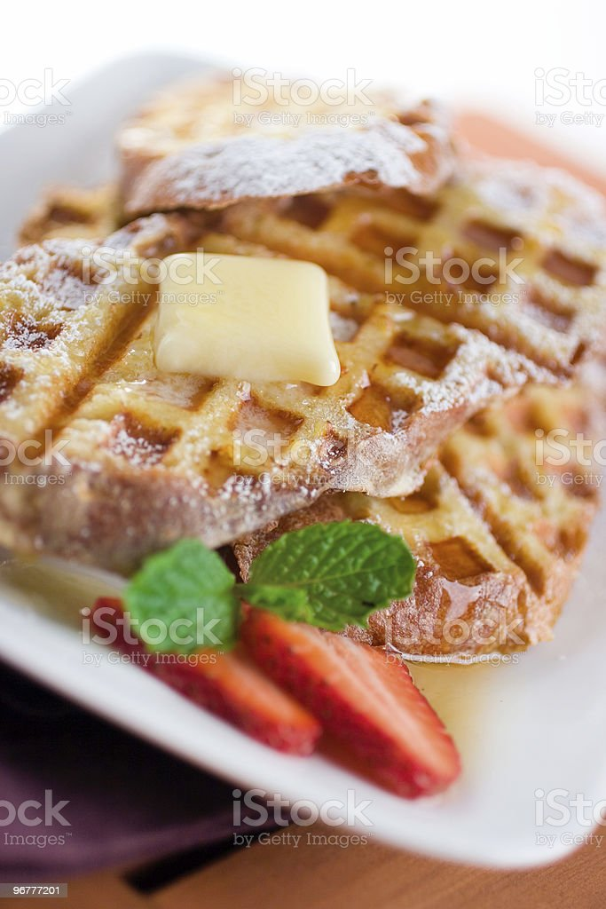 Gourmet Waffle Breakfast royalty-free stock photo
