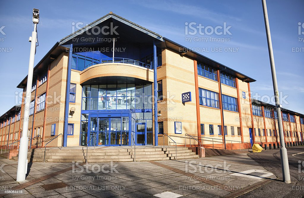 Govan Police Station, Glasgow royalty-free stock photo