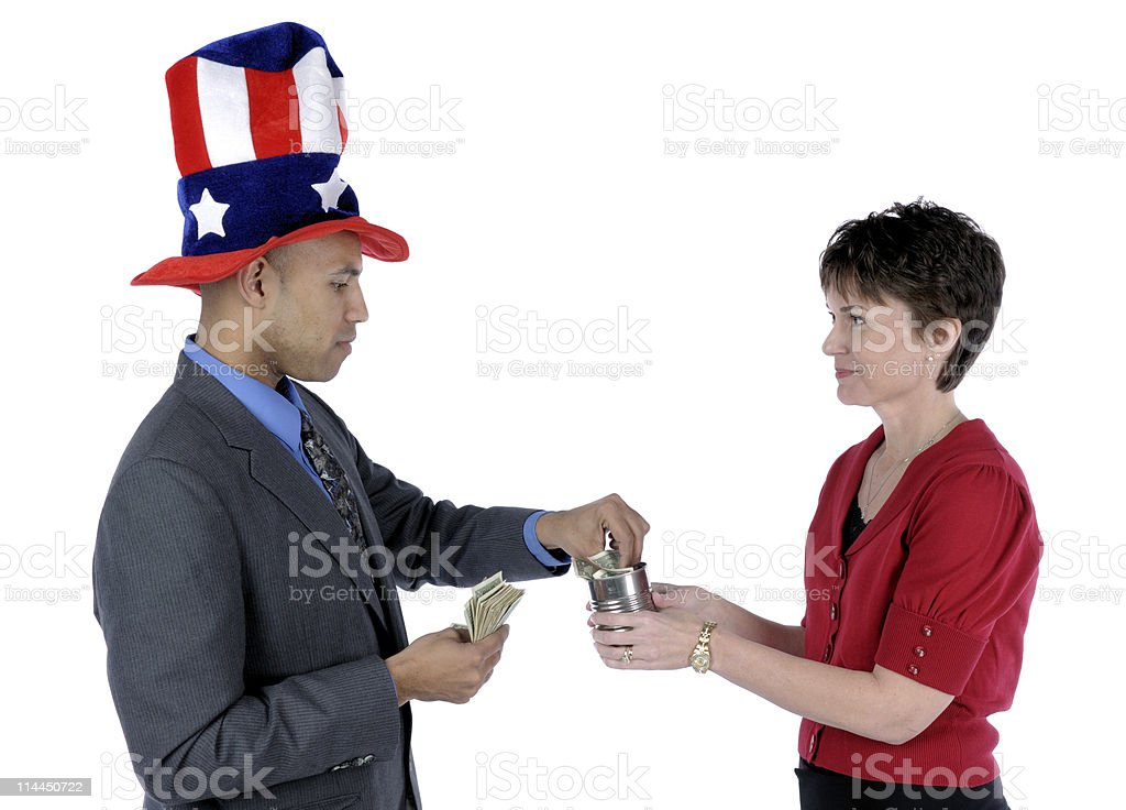 Goventment Bailout royalty-free stock photo