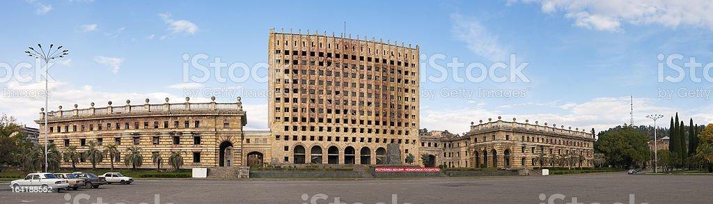 Goverment state house, Sukhumi, Abkhazia stock photo