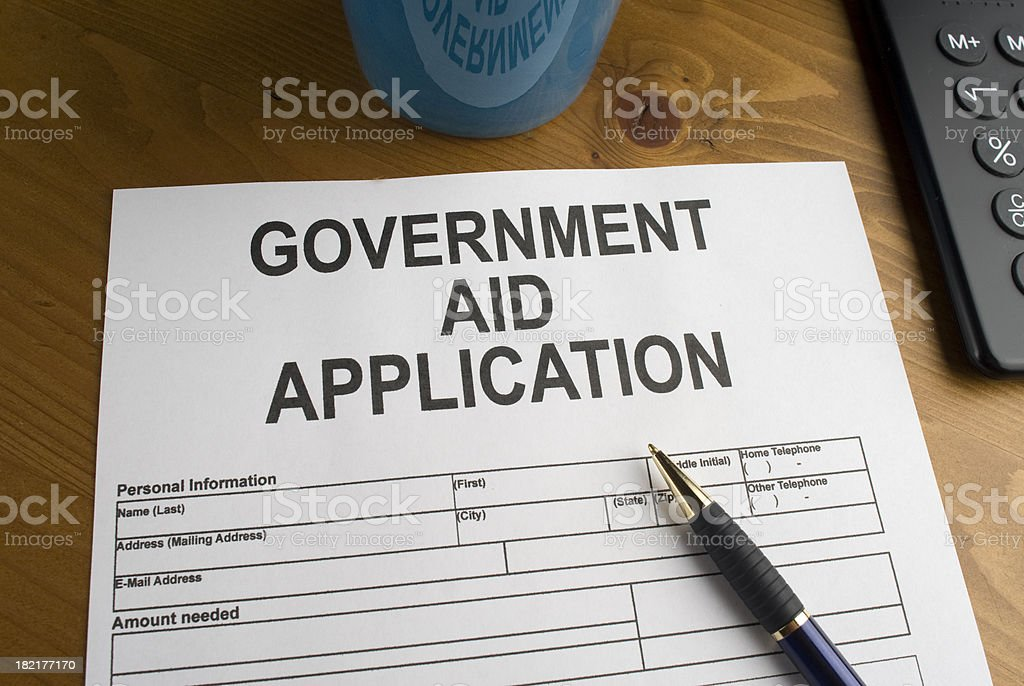 Government Aid Application royalty-free stock photo