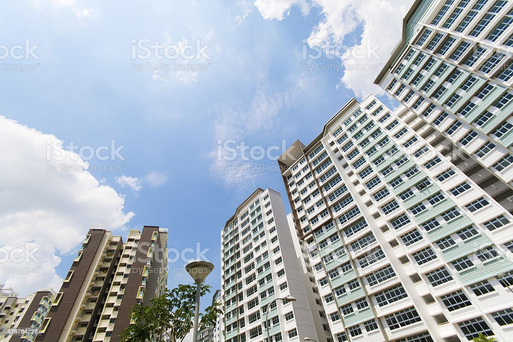 Government apartment blocks in Singapore royalty-free stock photo
