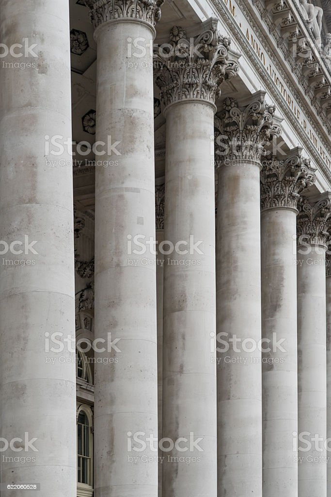 Government Bank Building Columns stock photo