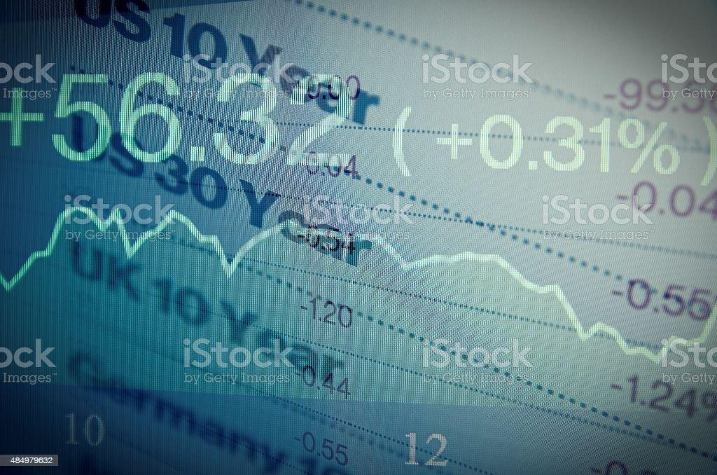 Government bonds stock photo