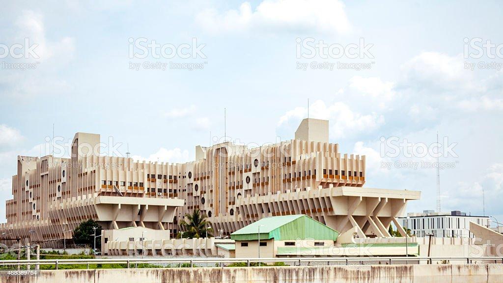 Government building in Abuja, Nigeria. stock photo