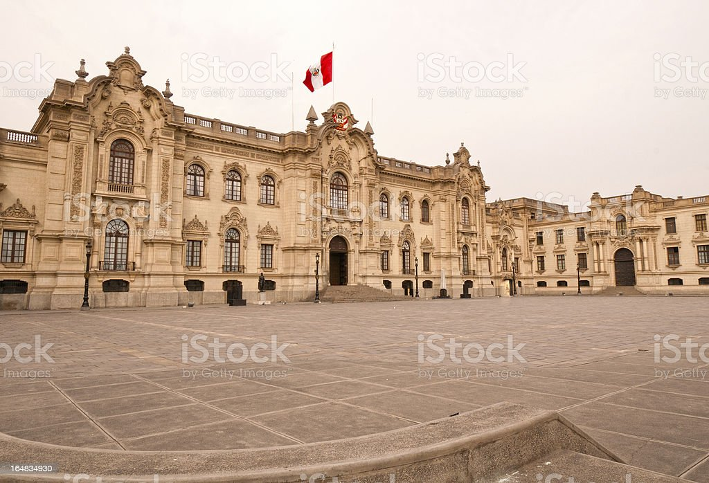 Government Building in Lima, Peru stock photo