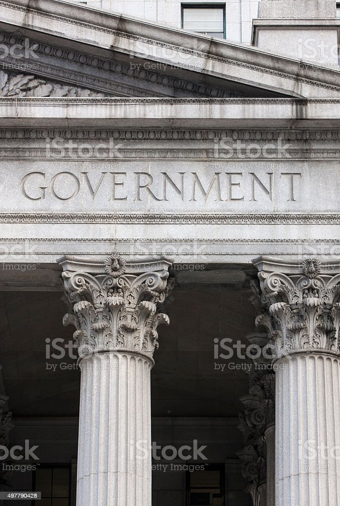 Government building with columns. stock photo