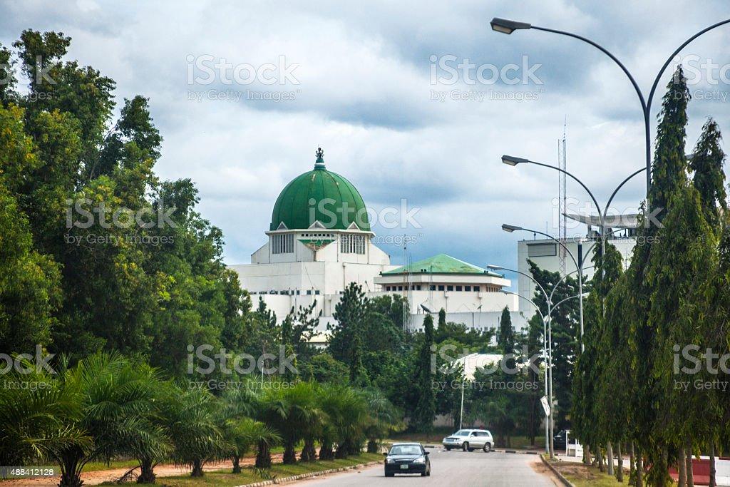 Government buildings in Abuja, Nigeria. stock photo