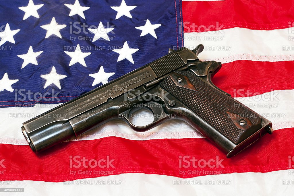 US Government Colt 1911 stock photo