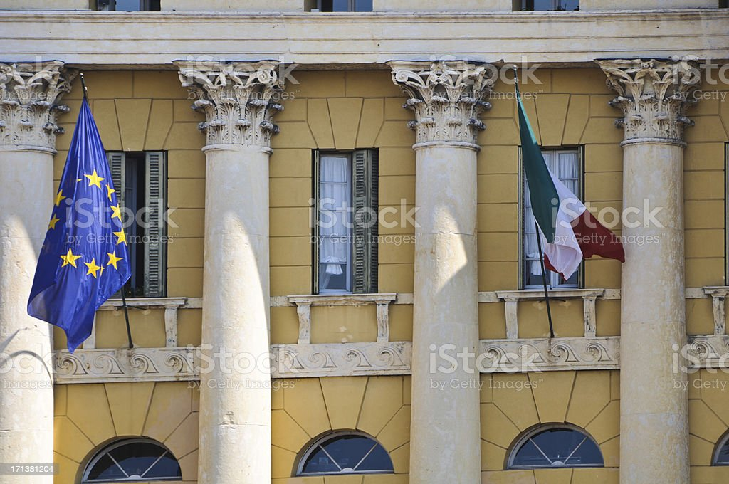 Government Flags royalty-free stock photo