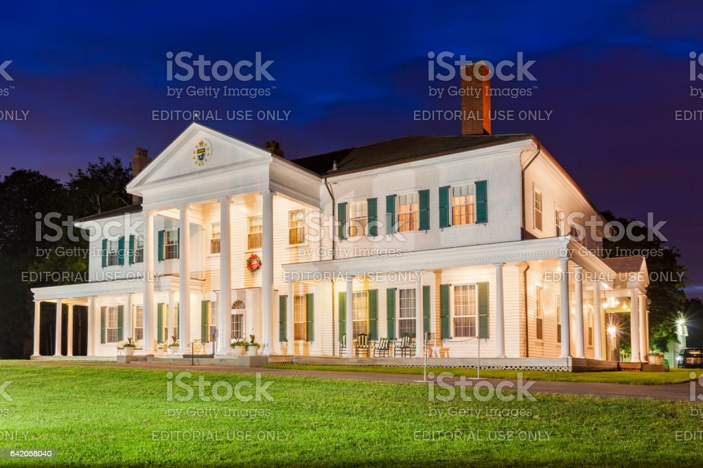 Government House in Charlottetown Prince Edward Island Canada stock photo