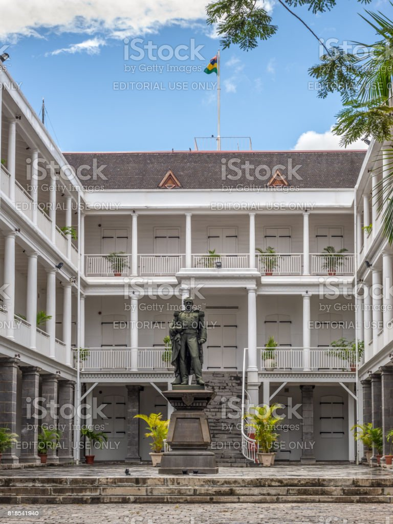 Government House, Port Louis, Mauritius stock photo