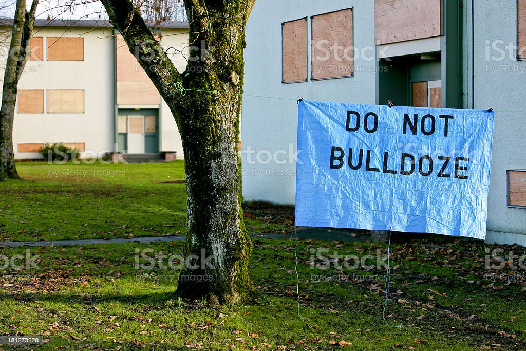 Government Housing Project Shut Down royalty-free stock photo