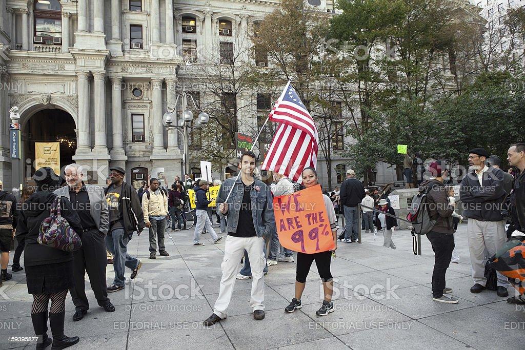 Government: Occupy Philadelphia Protest royalty-free stock photo