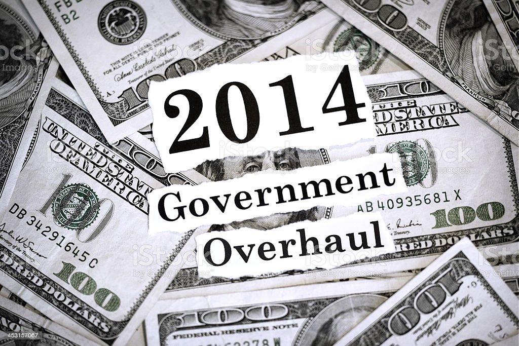 Government Overhaul 2014 stock photo