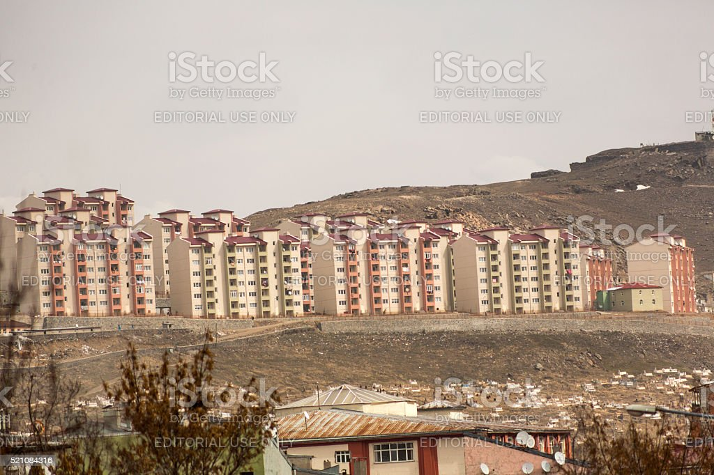 government public housing project at kars turkey stock photo