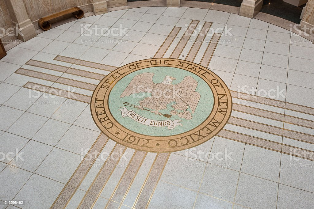 Government seal for the state of New Mexico stock photo