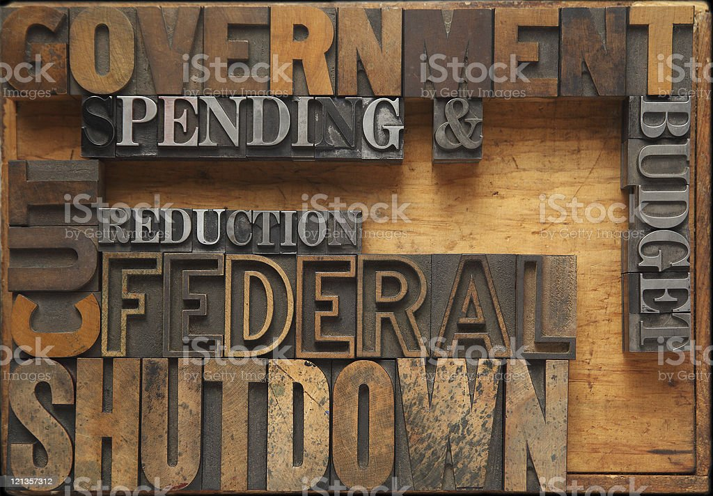 government shutdown stock photo