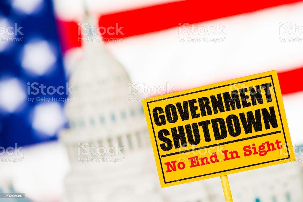 US Government Shutdown royalty-free stock photo
