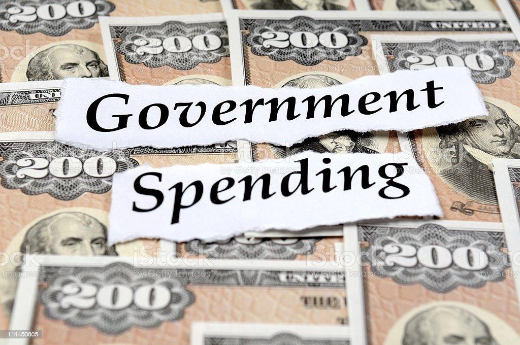 Government Spending Bonds royalty-free stock photo