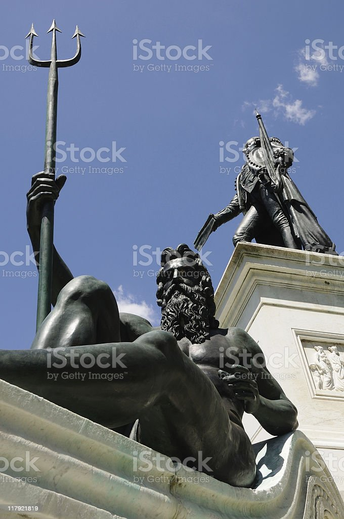 Governor Phillip with Neptune, Sydney royalty-free stock photo