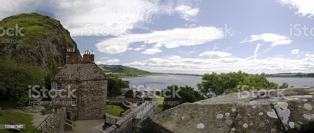 Governor's House - Dumbarton Castle royalty-free stock photo