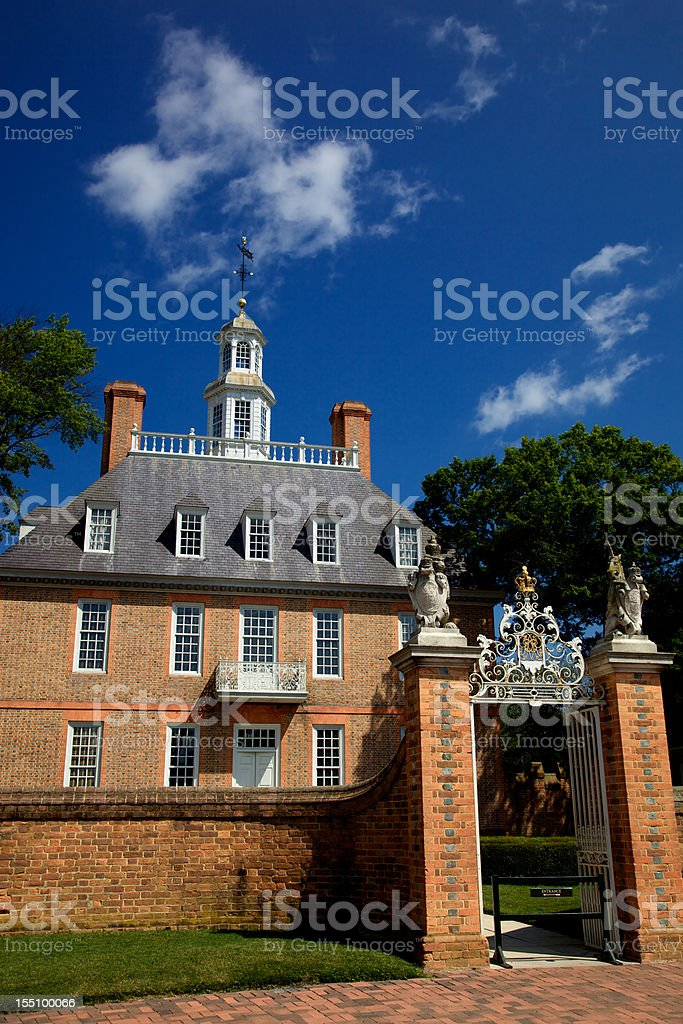 Governor's House Williamsburg Virginia royalty-free stock photo