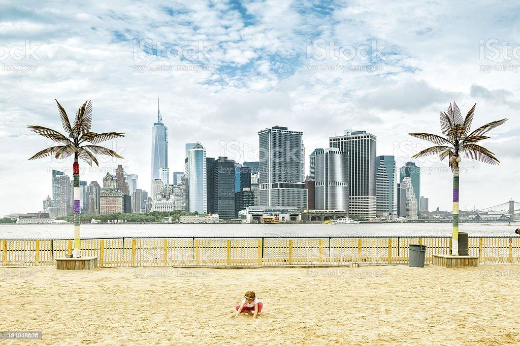Governors Island Beach New York stock photo