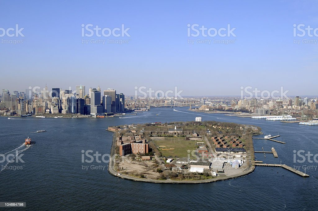 Governors Island in New York City stock photo