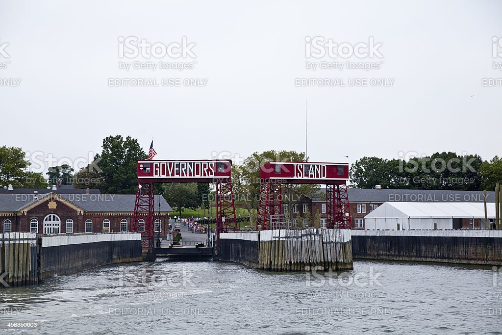 Governors Island in New York City royalty-free stock photo