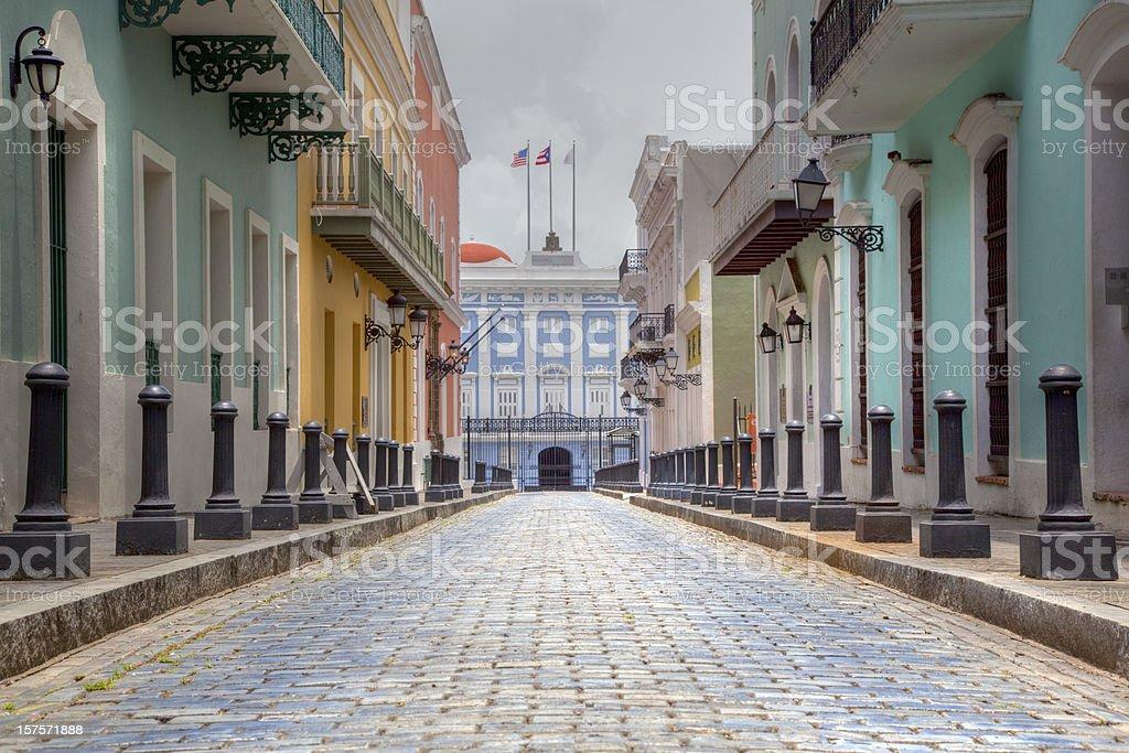 Governor's, Mansion, San Juan Puerto Rico royalty-free stock photo