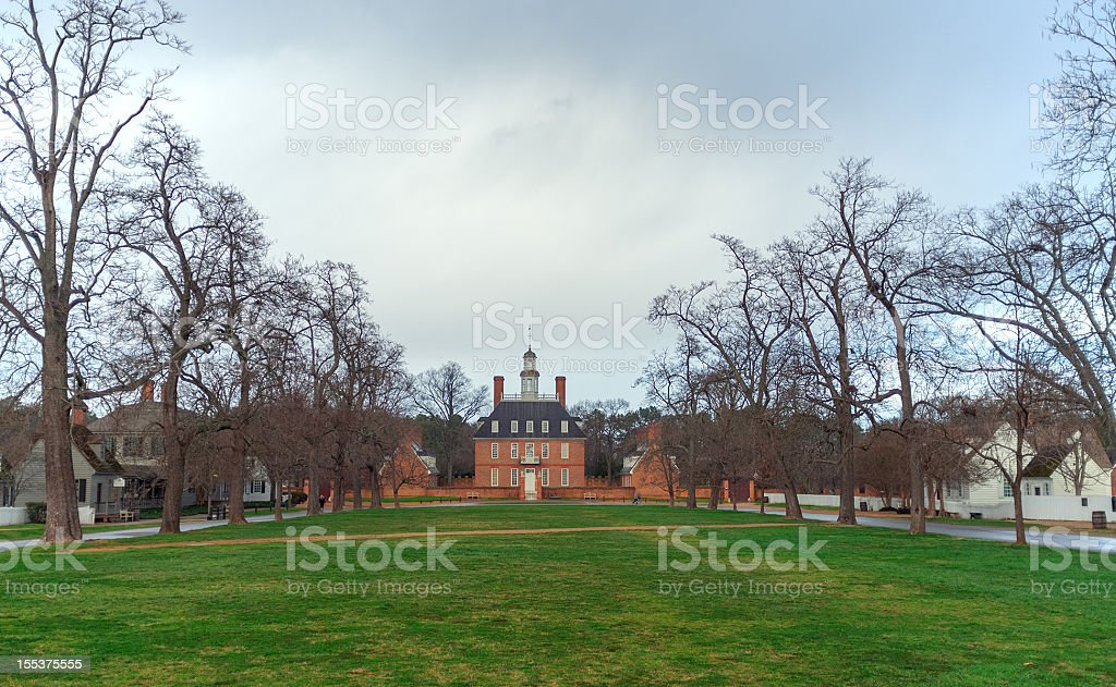 Governor's Mansion Williamsburg stock photo