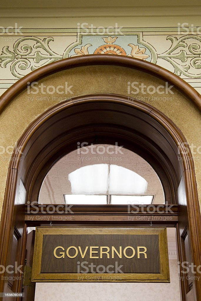 Governor's Office Wyoming State Capitol stock photo