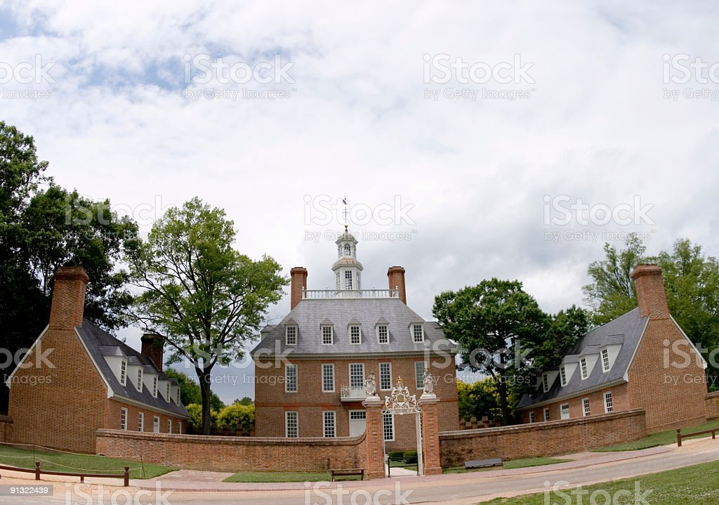 Governor's Palace, Colonial Williamsburg royalty-free stock photo