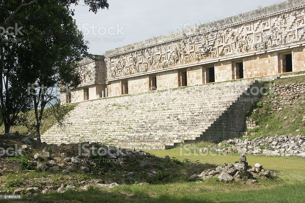 Governors Palace, Uxmal royalty-free stock photo