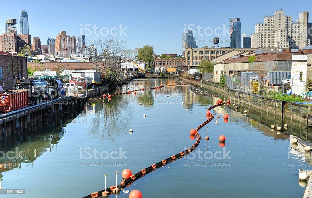 Gowanus Canal, Brooklyn, NY stock photo