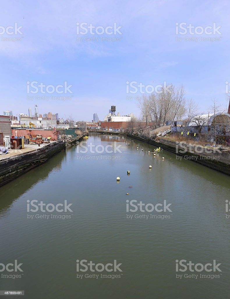 Gowanus Canal, Brooklyn stock photo