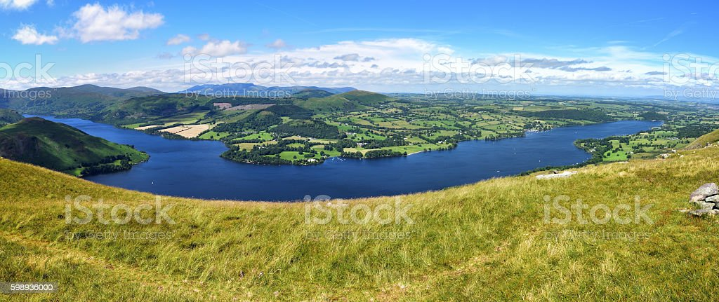 Gowbarrow and Ullswater stock photo