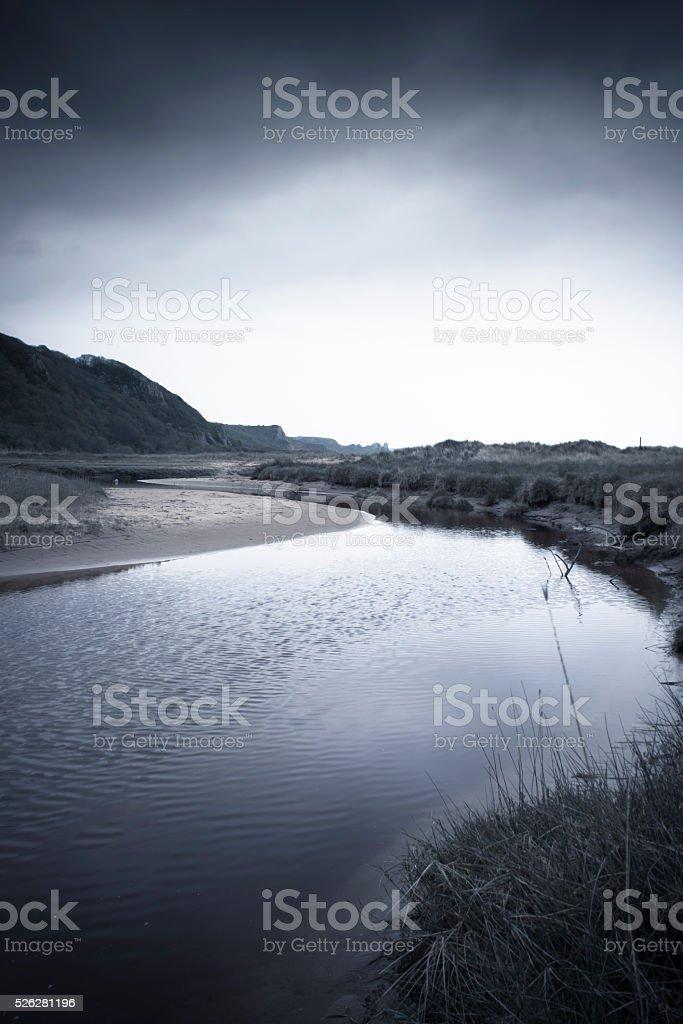 Gower Coast stock photo