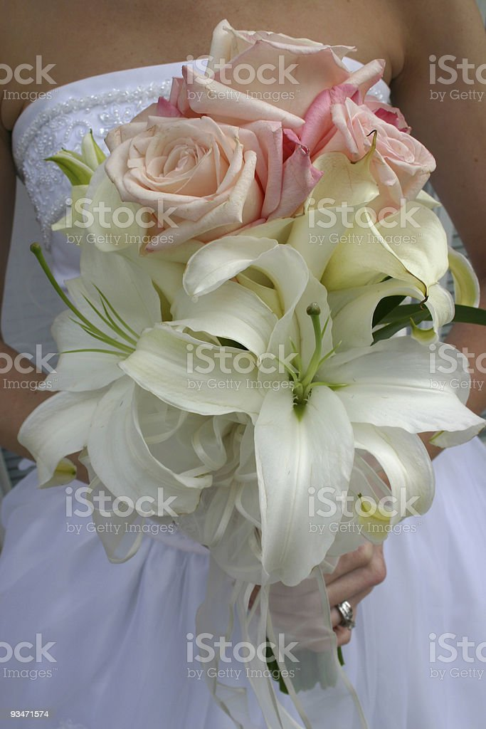 Gown bouquet royalty-free stock photo