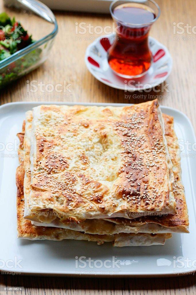 Gozleme, Traditional Turkish Food stock photo