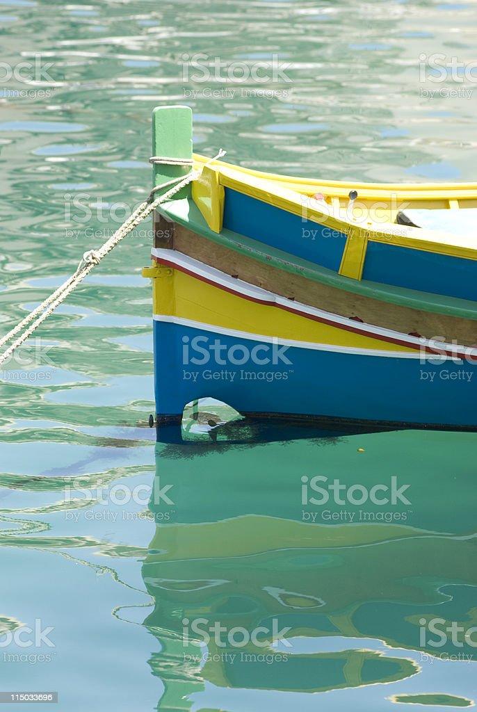 gozo boat in  maltese island stock photo