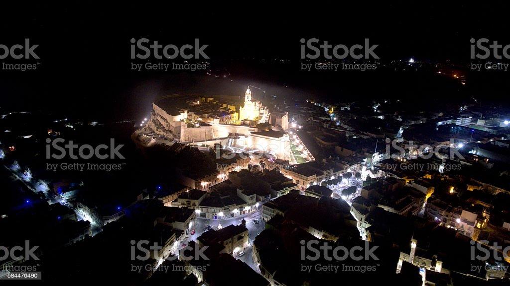 Gozo Citadella Night stock photo