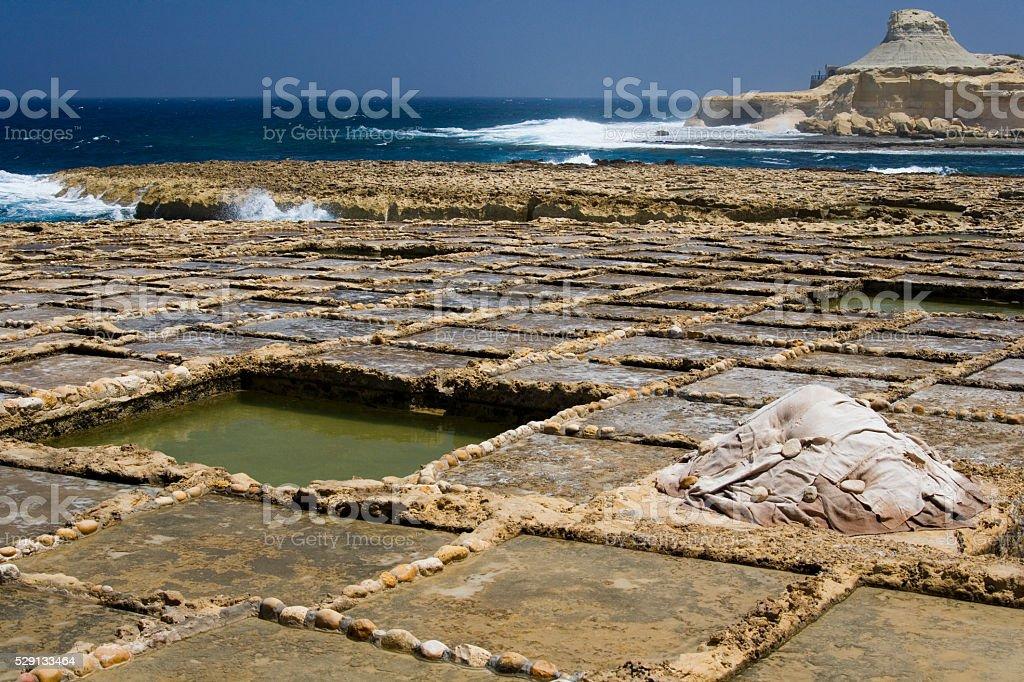 Gozo Salt Pans - Malta stock photo