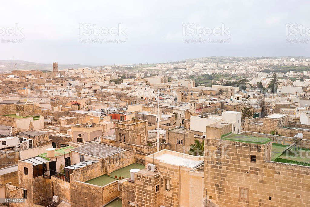 Gozo Urban Views royalty-free stock photo