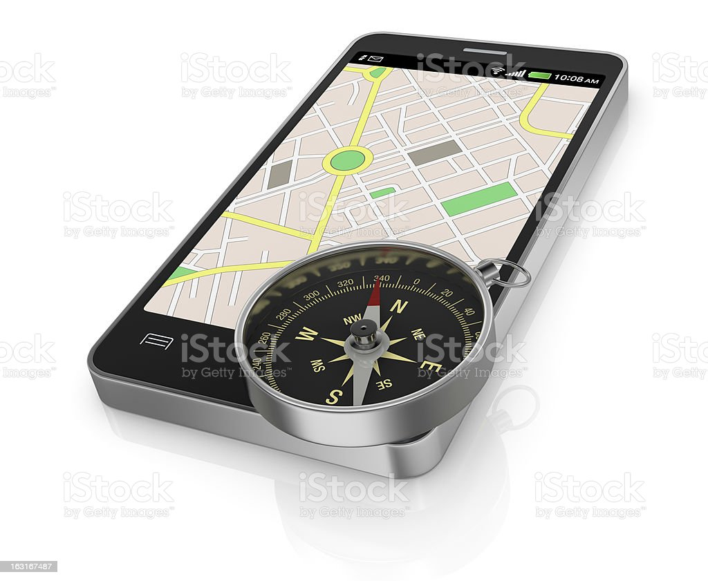 gps application royalty-free stock photo