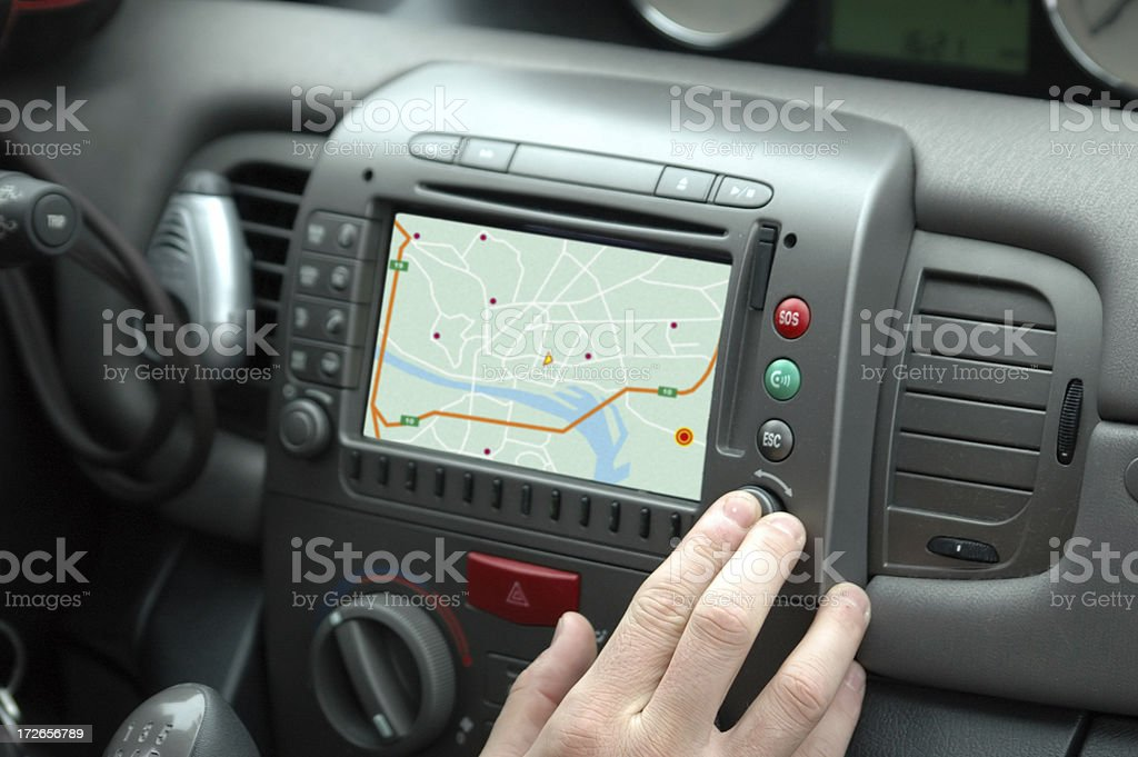 gps car stock photo