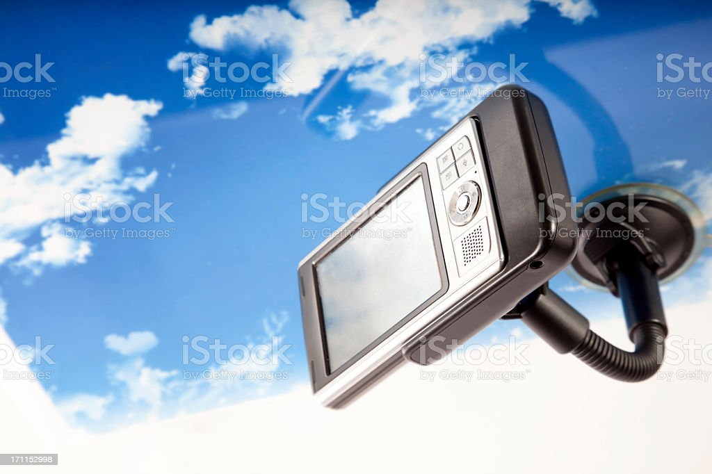 Gps in a car royalty-free stock photo